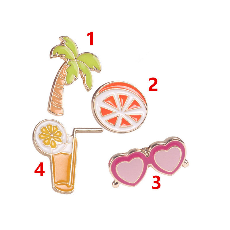 Cute Orange Juice Brooch Pin
