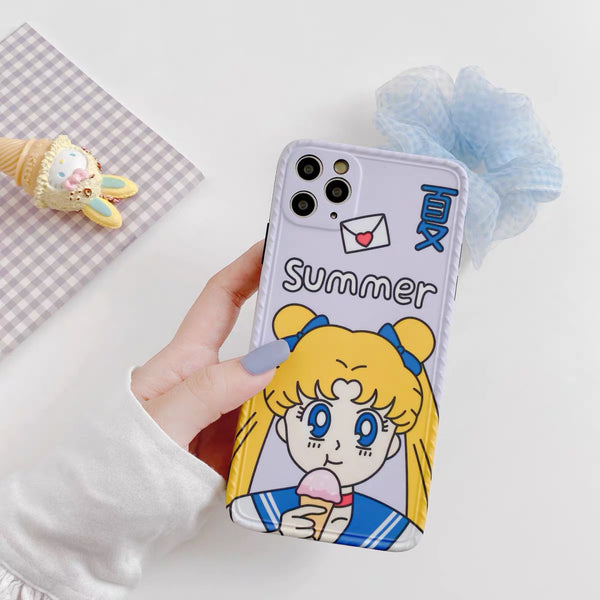 Kawaii Girl Phone Case For Iphone7/8/7/8plus/X/XS/XR/XSmax/11/11pro/11promax