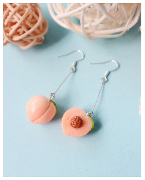 Cute Peach Earrings