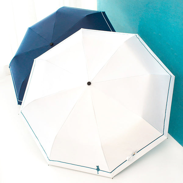 Pure Color Folding Umbrella