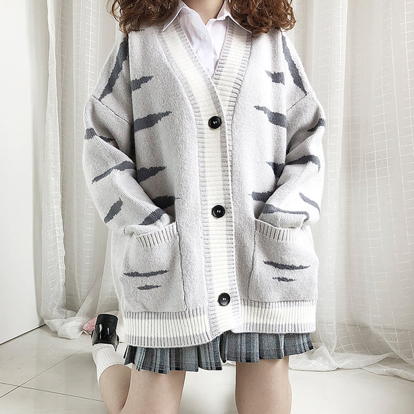 Cat Grain Sweater Coat