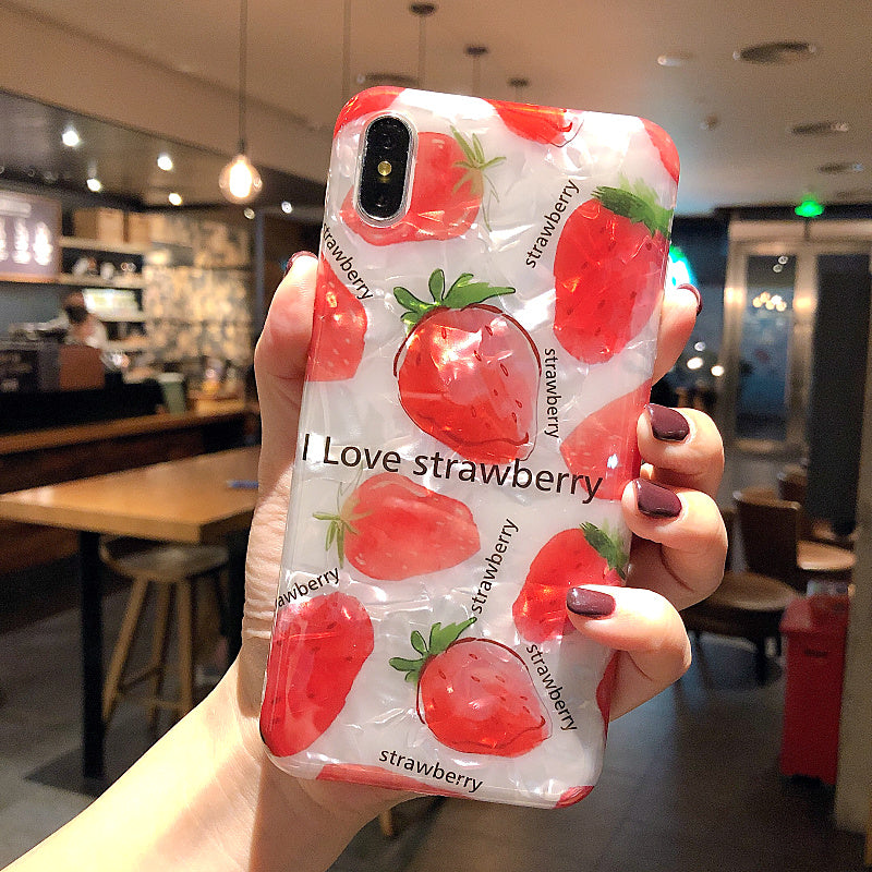 Strawberry Phone Case For Iphone6/6s/6p/7/8/7/8plus/X/XS/XR/XSmax