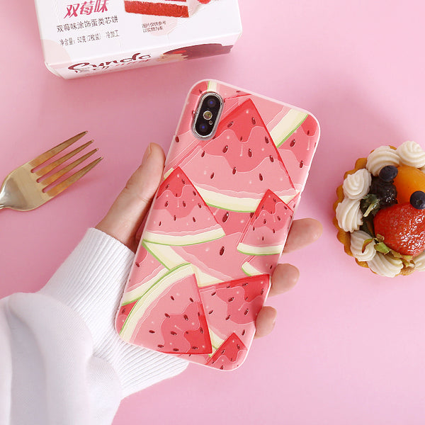 Watermelon Phone Case For Iphone6/6s/6p/7/8/7/8plus/X/XS/XR/XSmax