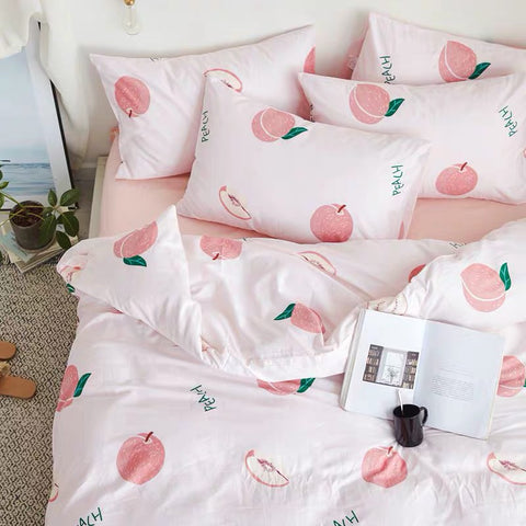 Cute Peach Bedding Set