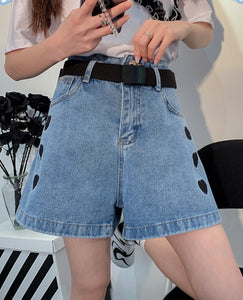 Harajuku Love Jean Shorts
