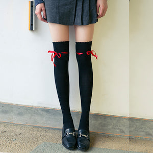 Cute Ribbon Knee-high Socks
