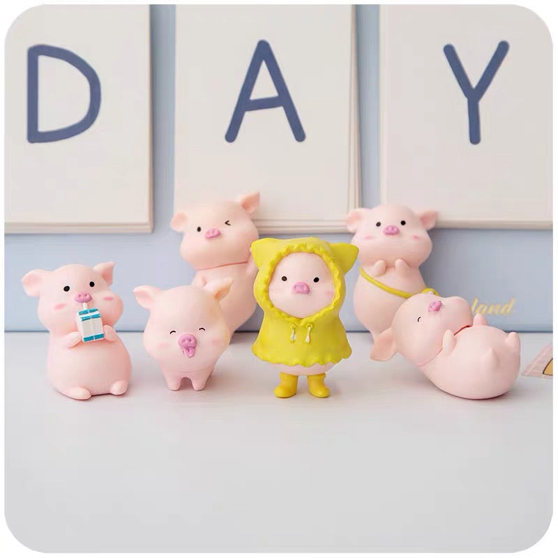 Kawaii Pig Dolls Set