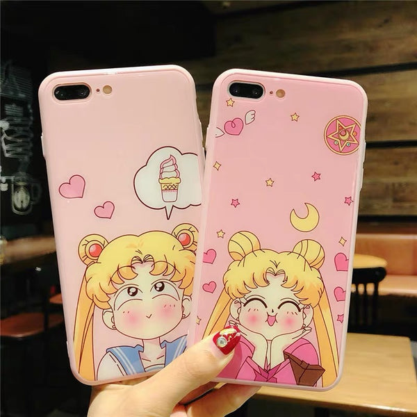 Kawaii Girl Phone Case For Iphone6/6S/6P/7/7P/8/8plus/X/XS/XR/XSmax/11/11pro/11pro