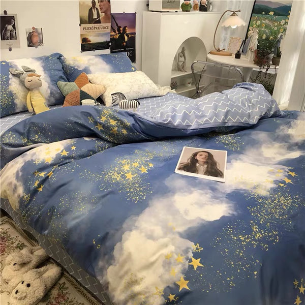 Cute Stars Bedding Set