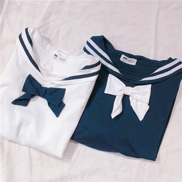 Cute Sailor Bowknot T-shirt