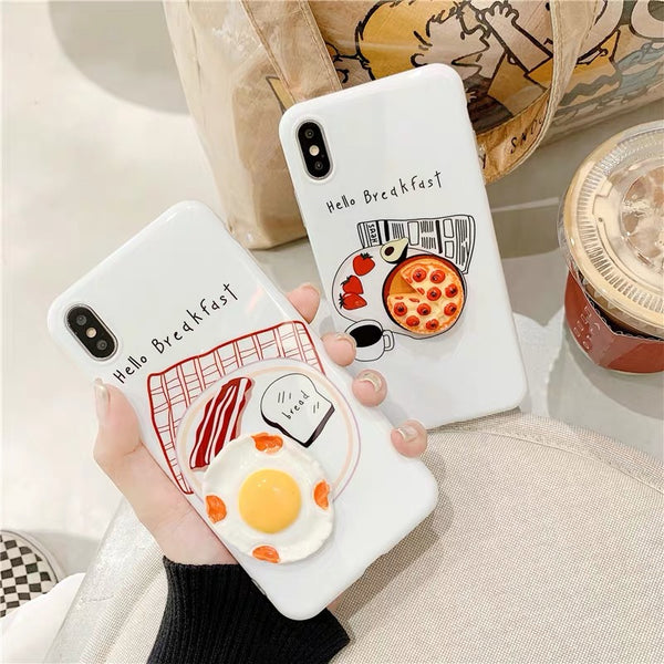 Breakfast Phone Case For Iphone6/6S/6P/7/7P/8/8plus/X/XS/XR/Xs max/11/11pro/11pro max