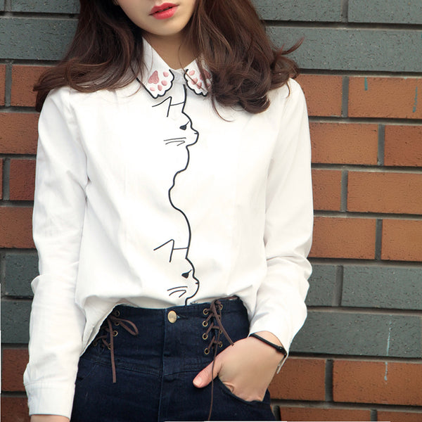 Paws Embroidery Shirt