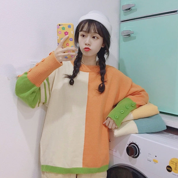 Harajuku Color Sweater