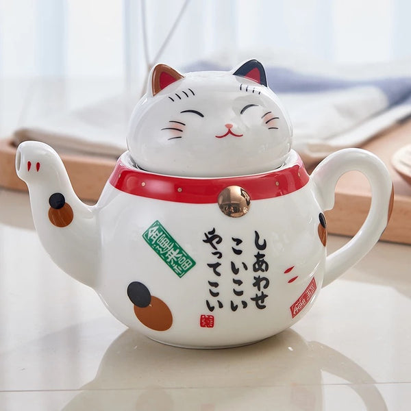 Kawaii Money Cat Tea Set