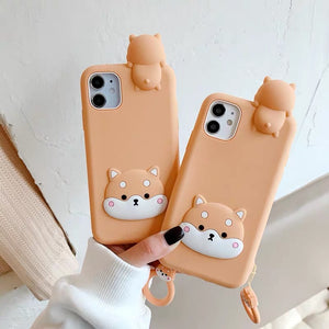 Dog Phone Case For Iphone7/8/7/8plus/X/XS/XR/XSmax/11/11pro/11proMax/12/12pro/12mini/12proMax