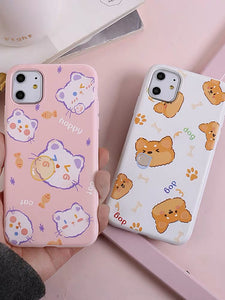 Cat And Dog Phone Case For Iphone6/6S/6P/7/7P/8/8plus/X/XS/XR/Xs max/11/11pro/11pro max
