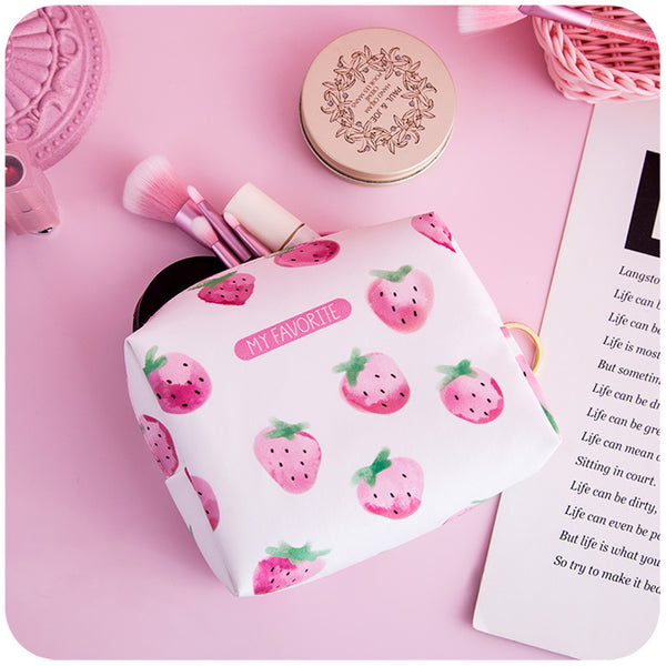 Strawberry Cosmetic Bag
