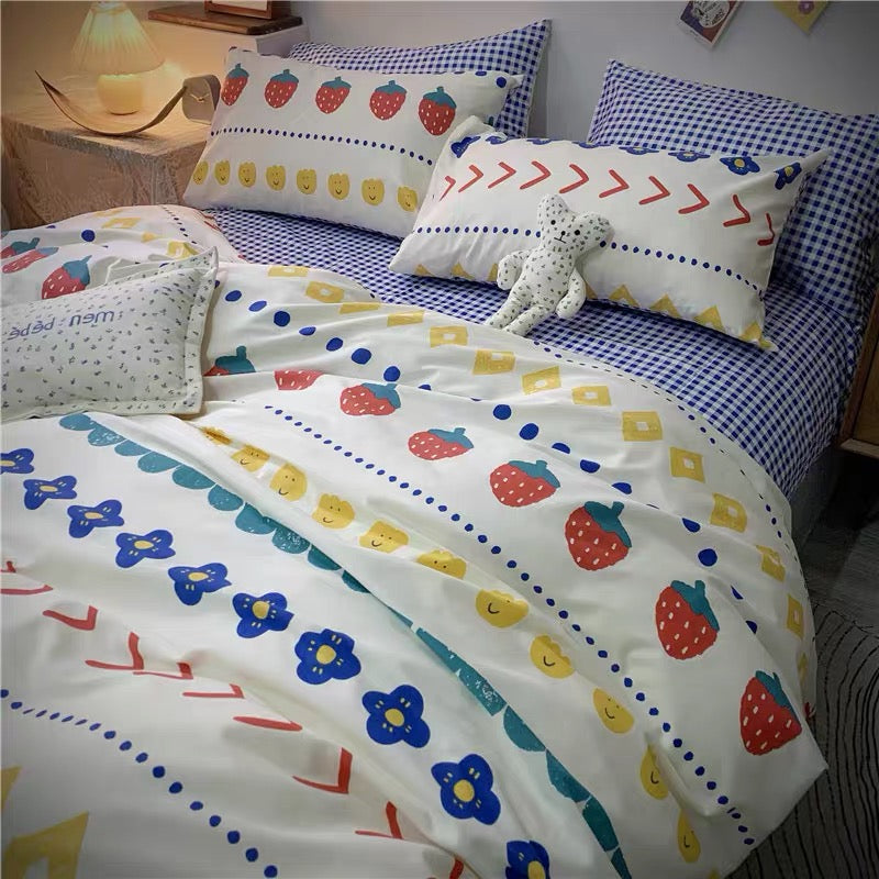 Kawaii Printed Bedding Set