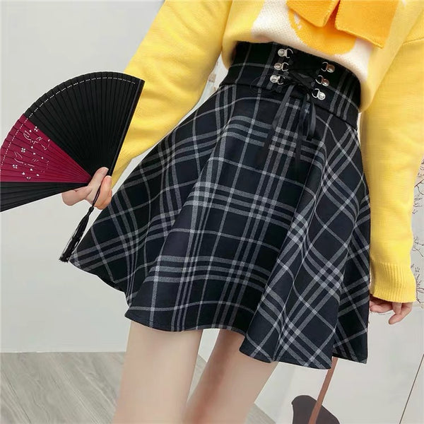 Harajuku Plaid Skirt