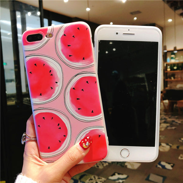 Watermelon Phone Case For Iphone6/6S/6P/7/7P/8/8plus/X/XS/XR/Xs max