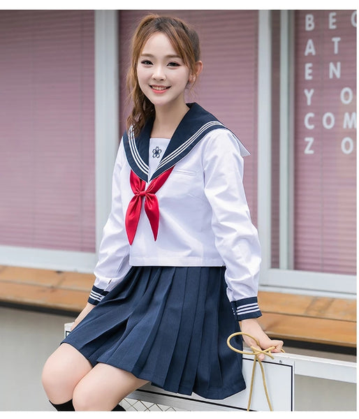 Embroidery Sakura Uniform Suit