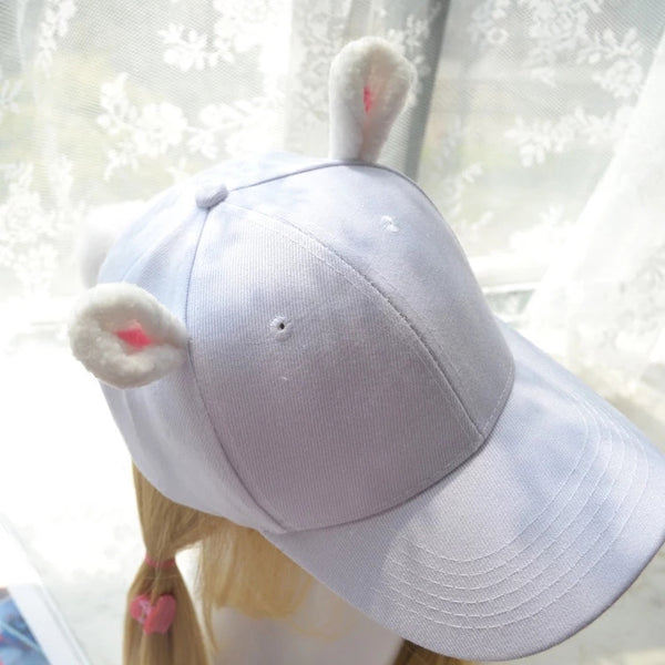 Soft Cute Rabbit Ears Cap
