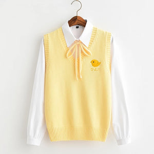 Cute Chick Knitted Vest