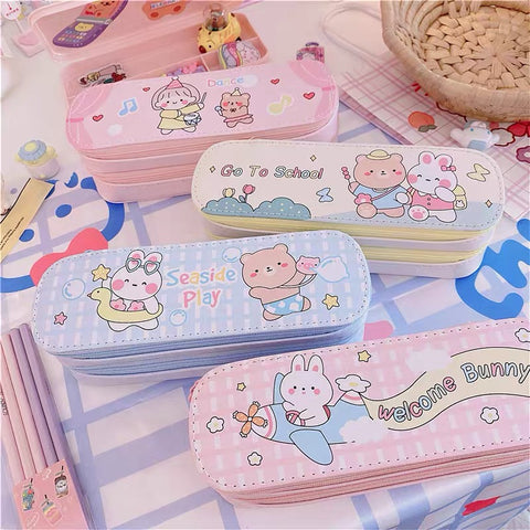 Kawaii Printed Pencil Case