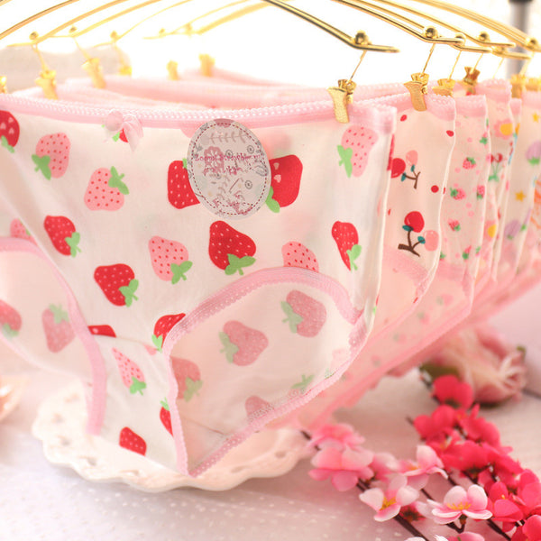 Cute Strawberry Underwear