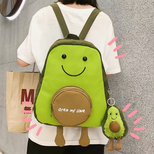 Kawaii Avocado Backpack