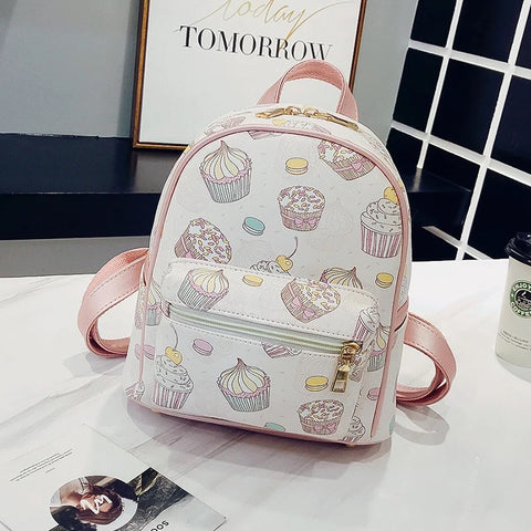 Sweet Ice Cream Double Shoulder Bag