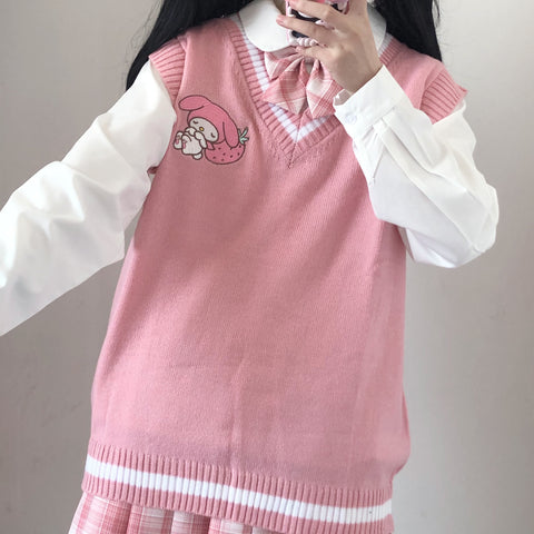 Kawaii Cartoon Knitted Vest