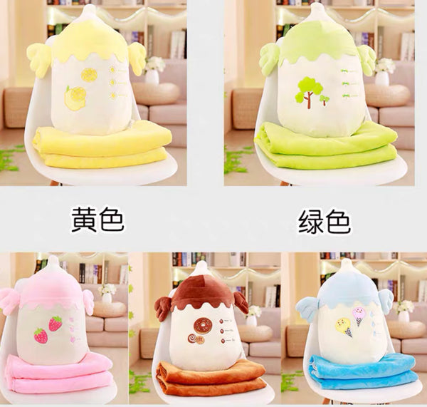 Kawaii Bottle Pillow & Blanket