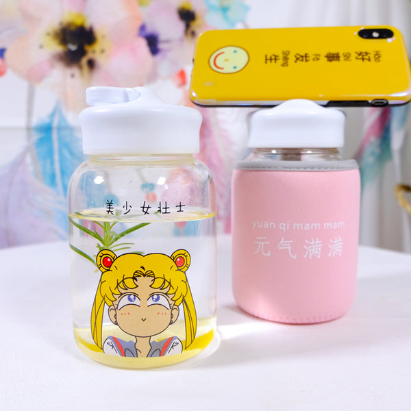 Cute Girl Printed Bottle