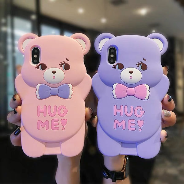 Bear Phone Case For Iphone6/6S/6P/7/7P/8/8plus/X/XS/XR/Xs max