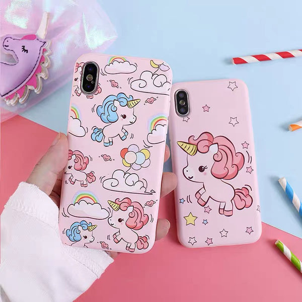 Unicorn Phone Case For Iphone6/6S/6P/7/7P/8/8plus/X/XS/XR/XSmax