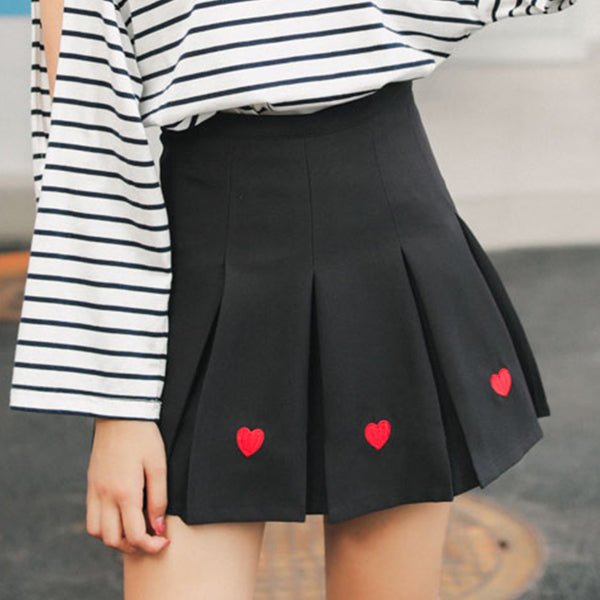 Embroidery Love Skirt