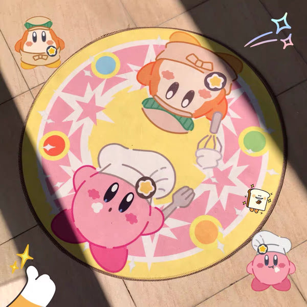Kawaii Kirby Floor Mat