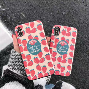 Strawberry Phone Case For Iphone6/6s/6p/7/8/7/8plus/X/XS/XR/XSmax #N2004