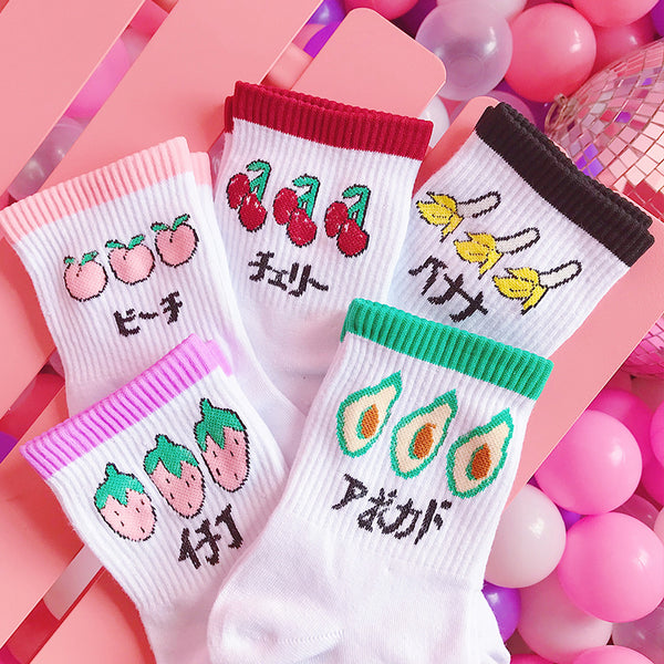 Fruit Printed Socks