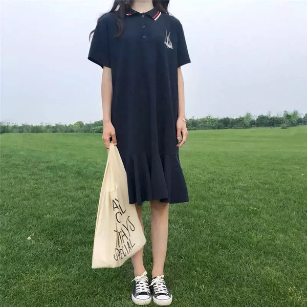 Embroidery Rabbit Dress