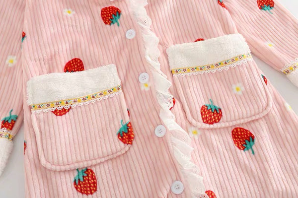 Sweet Strawberry Sleeping Robe