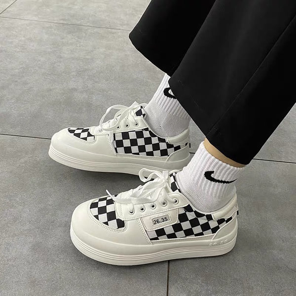 Harajuku Plaid Shoes