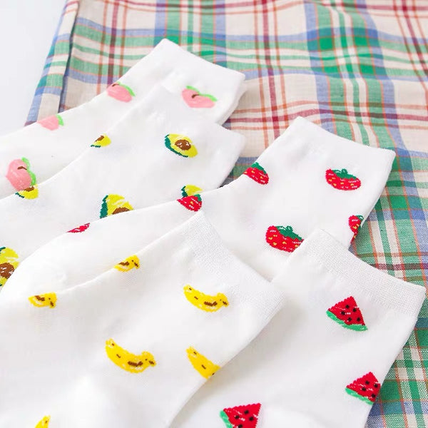 Fruits Printed Socks