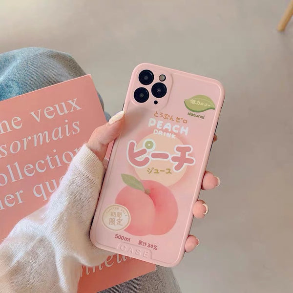 Peach Phone Case For Iphone7/7plus/8/8plus/X/XS/XR/XSmax/11/11pro/11proMAX