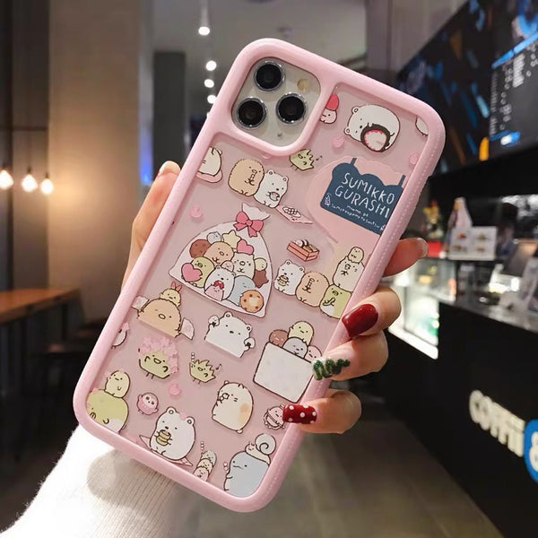 Sumikko Gurashi Phone Case For Iphone6/6S/6P/7/7P/8/8plus/X/XS/XR/Xs max/11/11pro/11pro max