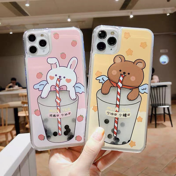 Bubble Tea Phone Case For Iphone7/7P/8/8plus/X/XS/XR/XSmax/11/11pro/11pro max