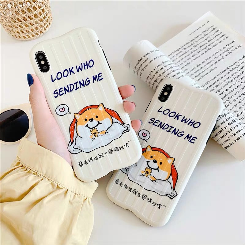 Message Dog Phone Case For Iphone6/6s/6p/7/8/7/8plus/X/XS/XR/XSmax