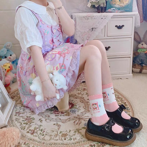 Cute Milk Socks
