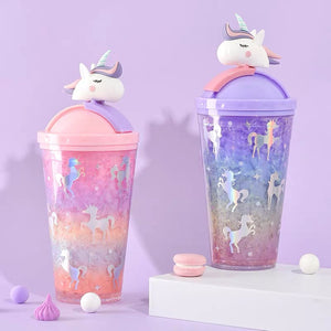 Cute Unicorn Juice Cup